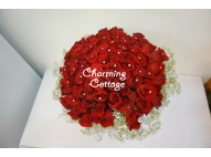 99 Red Roses with Diamonds