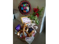fresh flower in basket